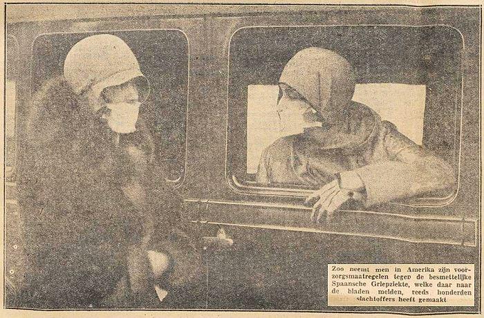 Corona pandemie en Spaanse griep 1918